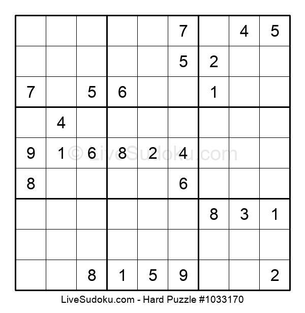 Hard Puzzle #1033170