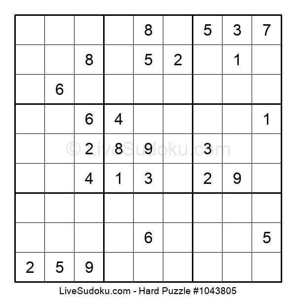 Hard Puzzle #1043805