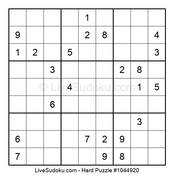 Hard Puzzle #1044920
