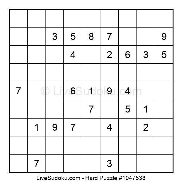 Hard Puzzle #1047538