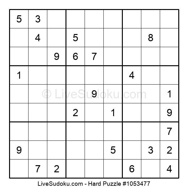 Hard Puzzle #1053477