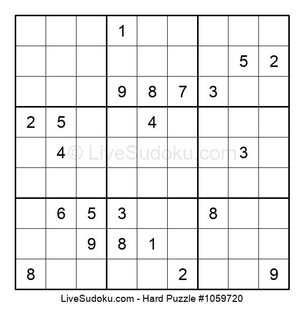 Hard Puzzle #1059720