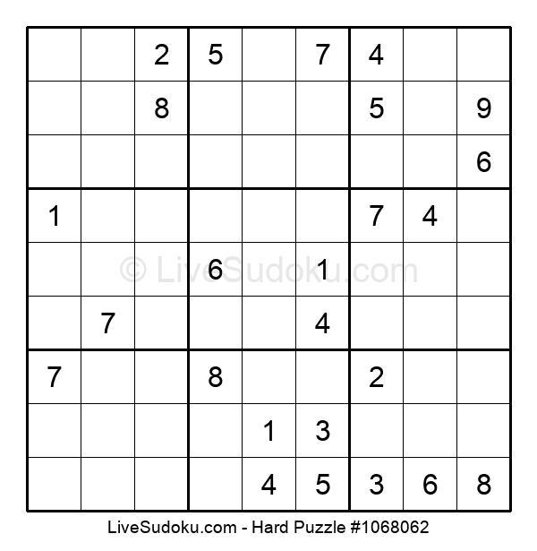 Hard Puzzle #1068062