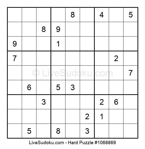 Hard Puzzle #1068869