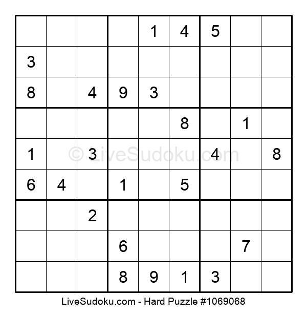 Hard Puzzle #1069068