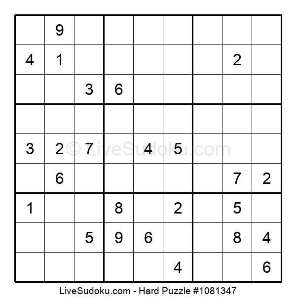 Hard Puzzle #1081347