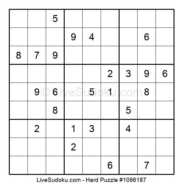 Hard Puzzle #1096187