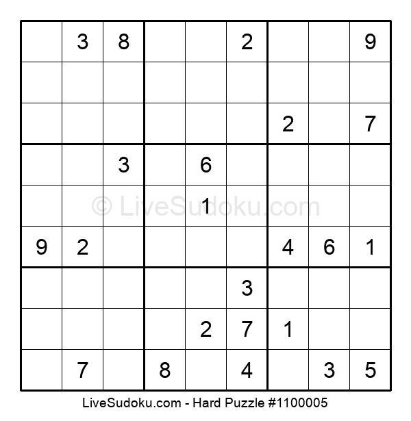 Hard Puzzle #1100005