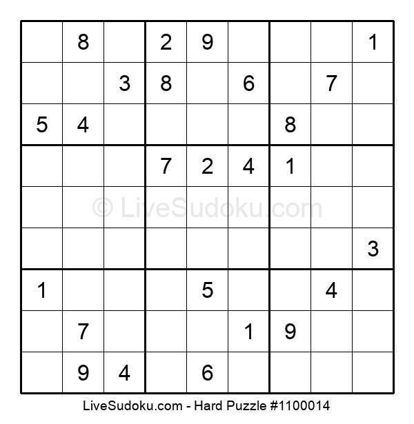 Hard Puzzle #1100014