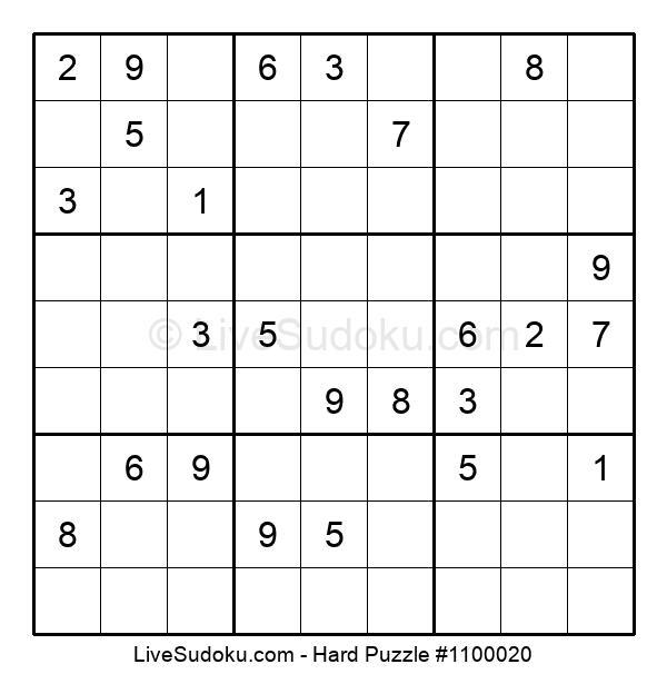 Hard Puzzle #1100020