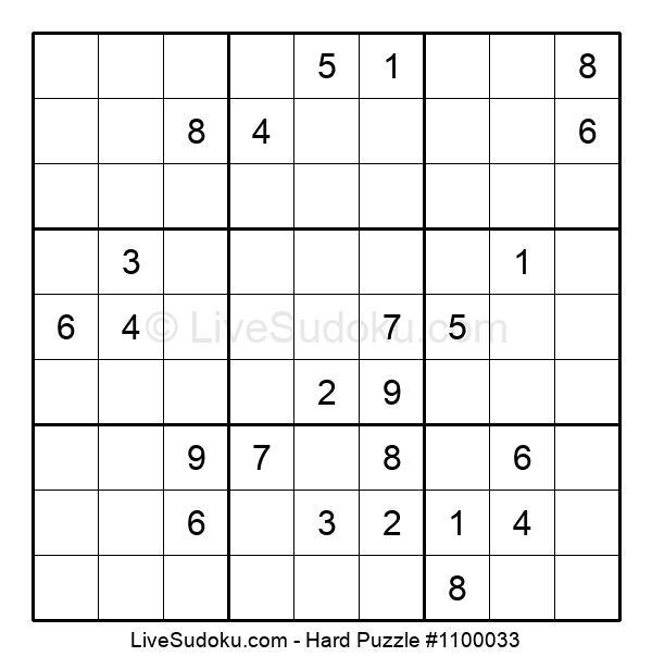 Hard Puzzle #1100033