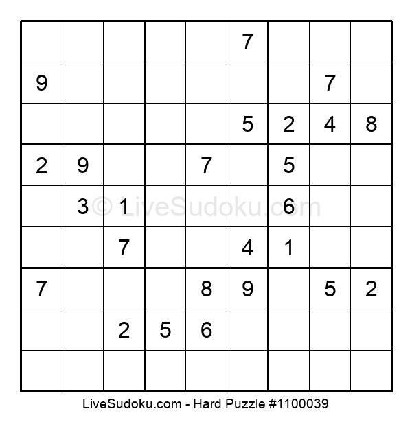 Hard Puzzle #1100039