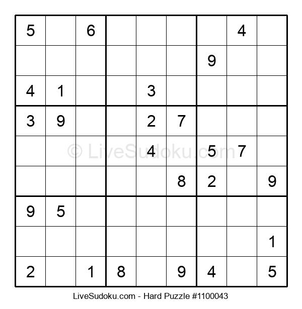 Hard Puzzle #1100043