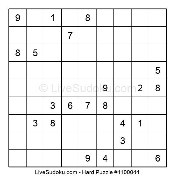Hard Puzzle #1100044