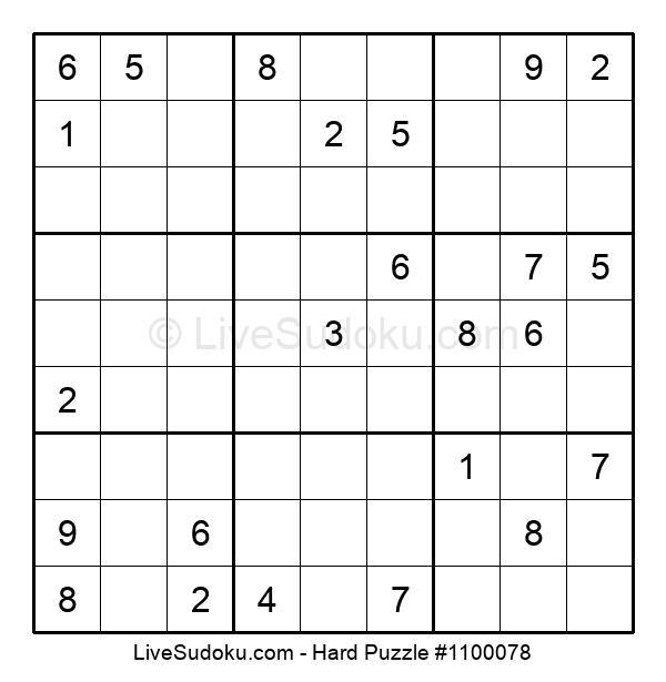 Hard Puzzle #1100078