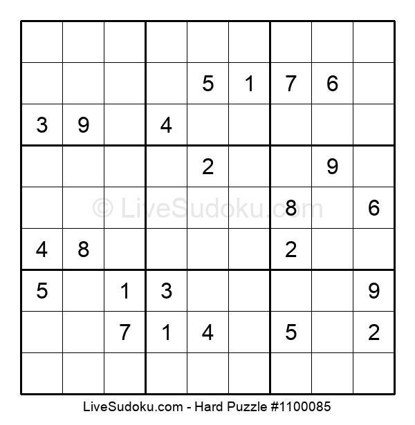 Hard Puzzle #1100085