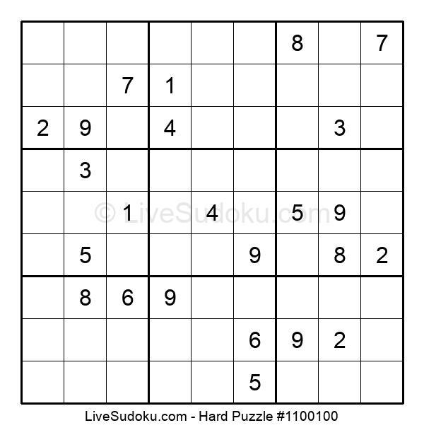 Hard Puzzle #1100100