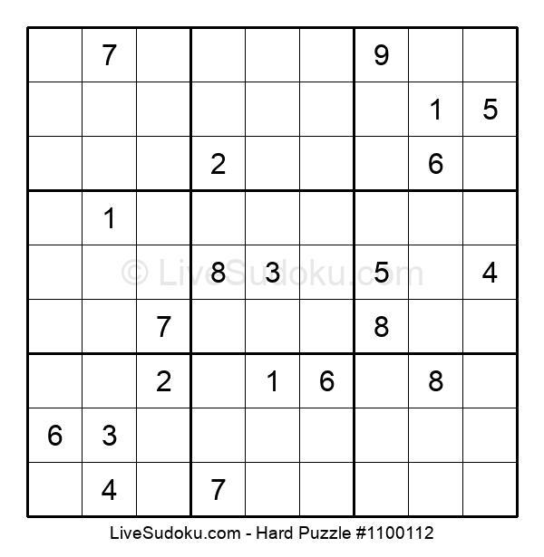 Hard Puzzle #1100112