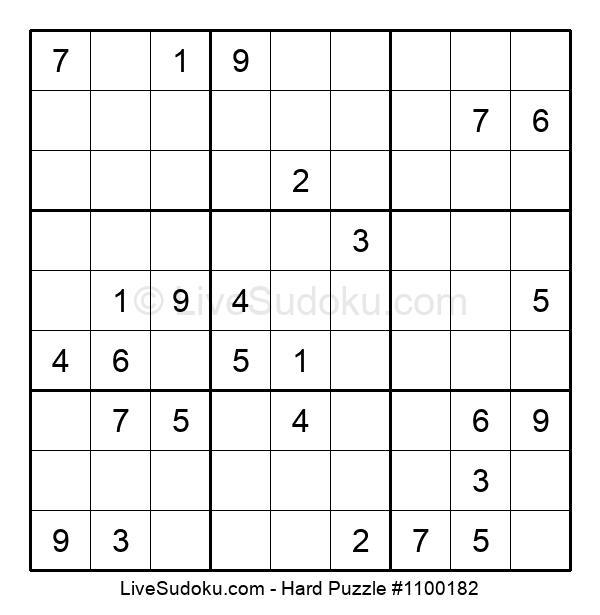 Hard Puzzle #1100182