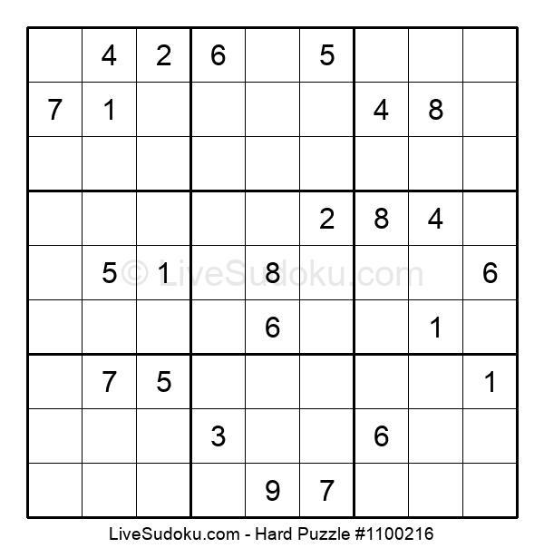 Hard Puzzle #1100216