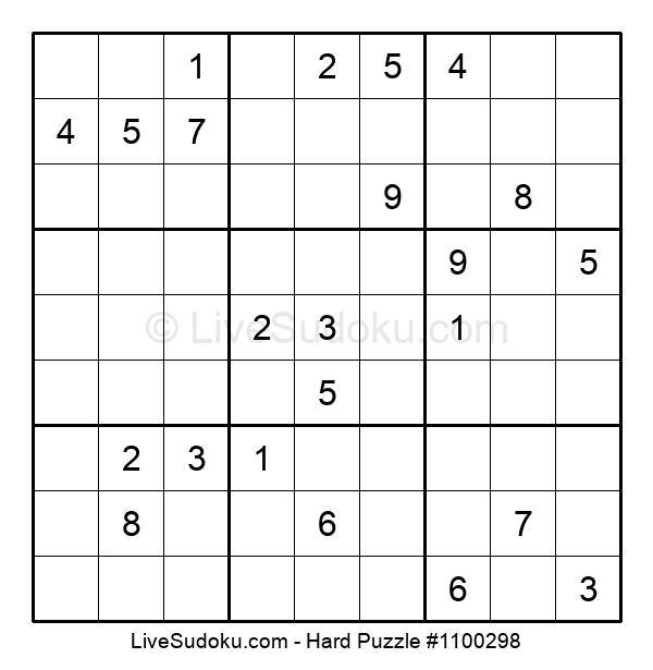 Hard Puzzle #1100298