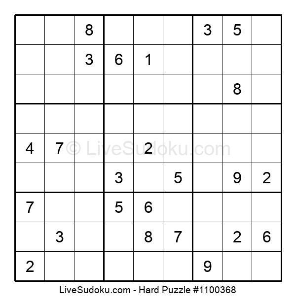Hard Puzzle #1100368