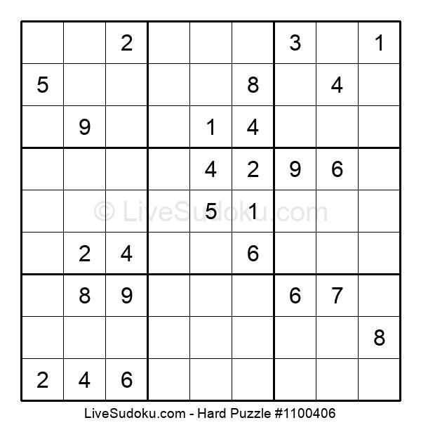 Hard Puzzle #1100406