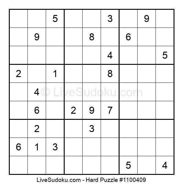 Hard Puzzle #1100409