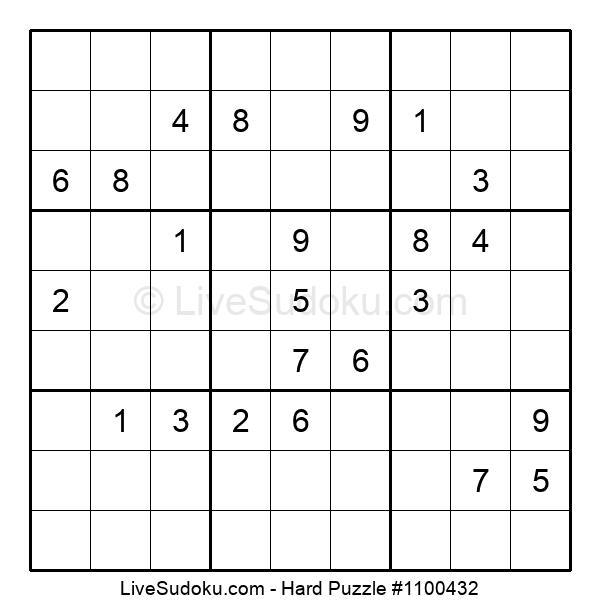 Hard Puzzle #1100432