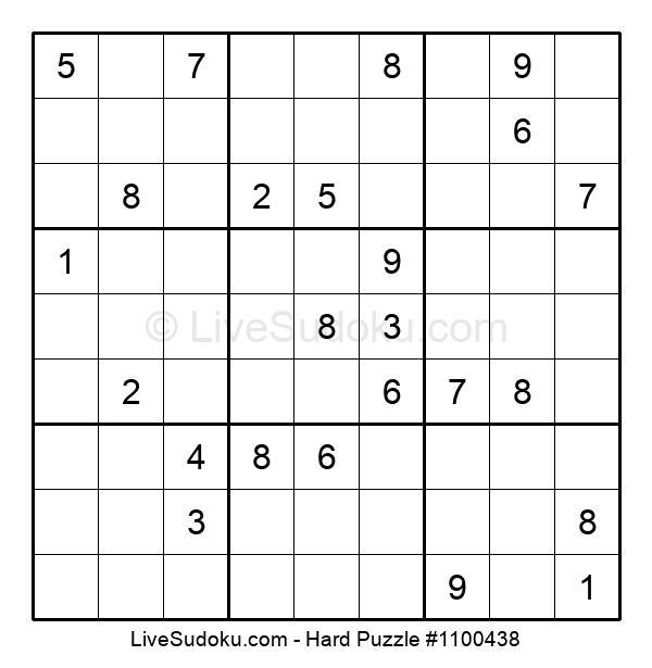 Hard Puzzle #1100438