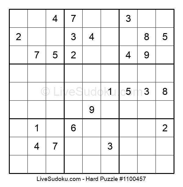 Hard Puzzle #1100457