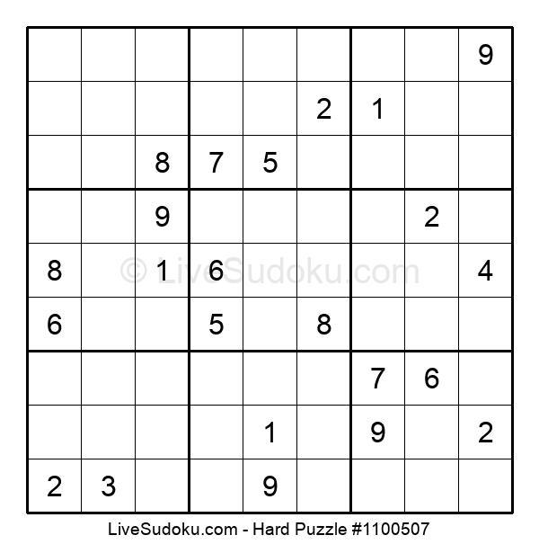 Hard Puzzle #1100507