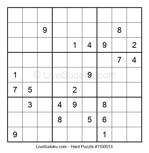 Hard Puzzle #1100513