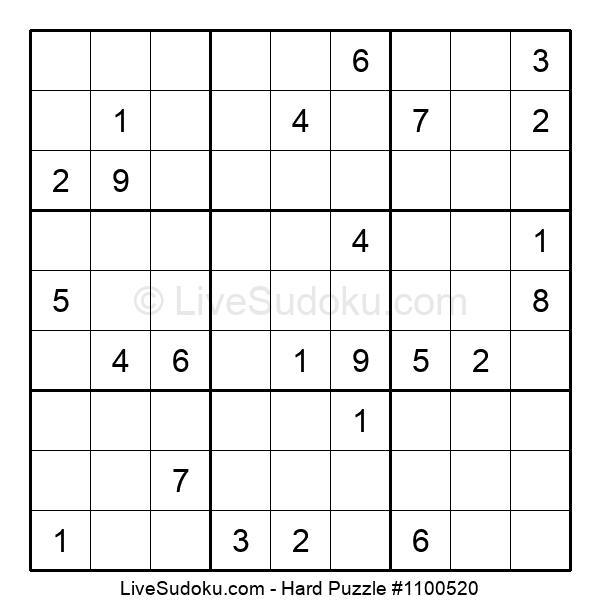 Hard Puzzle #1100520