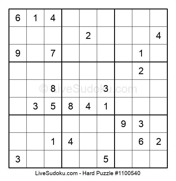 Hard Puzzle #1100540