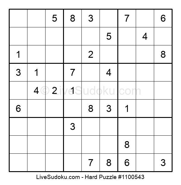 Hard Puzzle #1100543