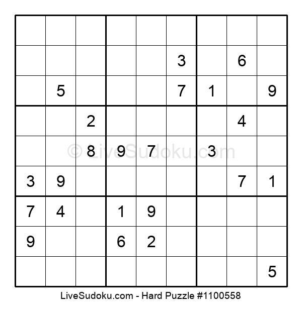 Hard Puzzle #1100558