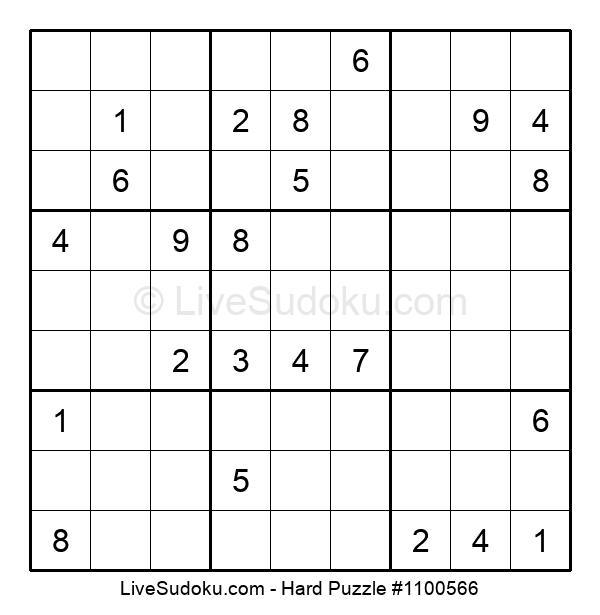 Hard Puzzle #1100566