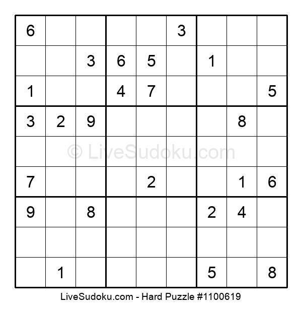 Hard Puzzle #1100619