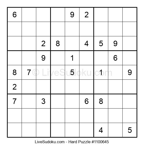 Hard Puzzle #1100645