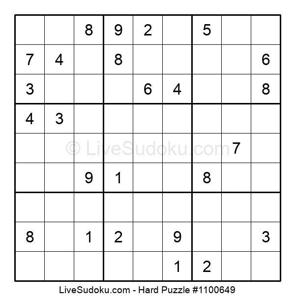Hard Puzzle #1100649