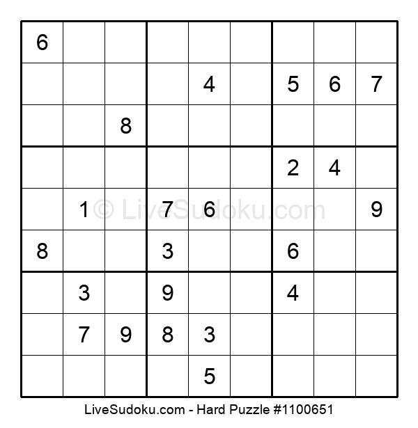 Hard Puzzle #1100651