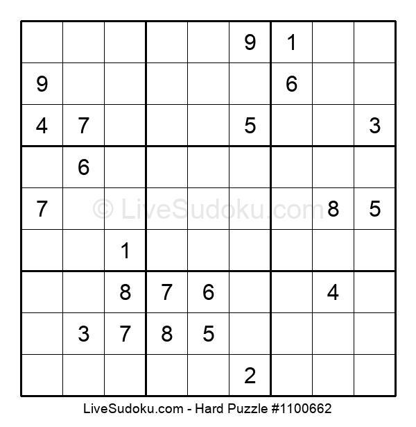 Hard Puzzle #1100662