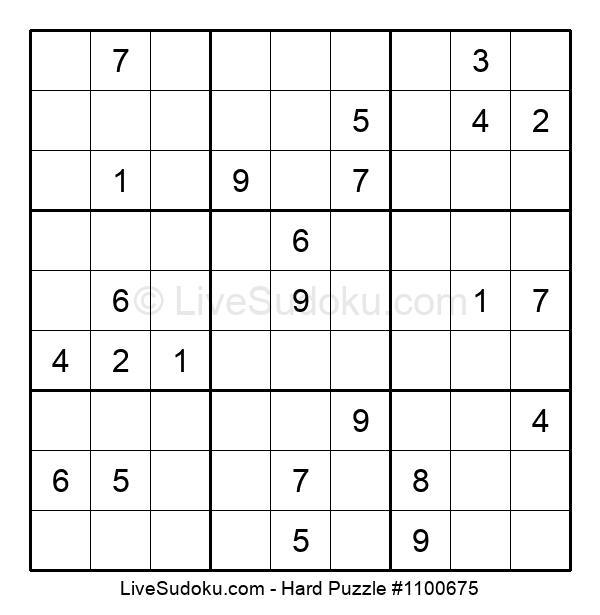 Hard Puzzle #1100675