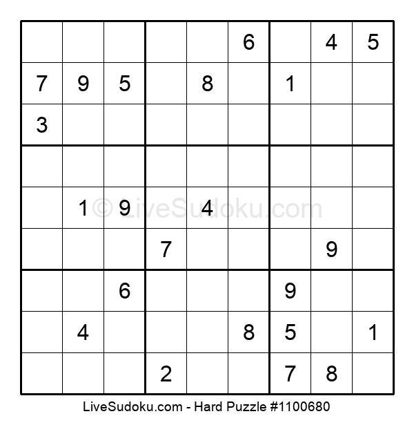 Hard Puzzle #1100680