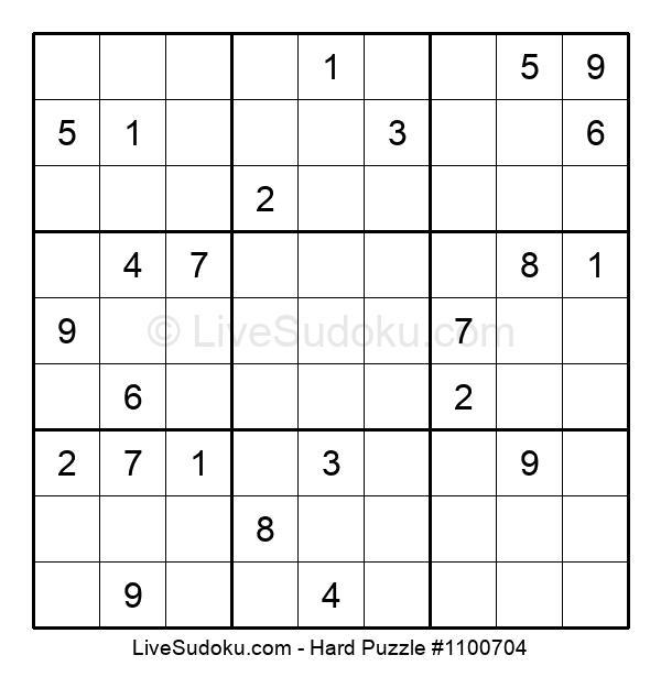 Hard Puzzle #1100704