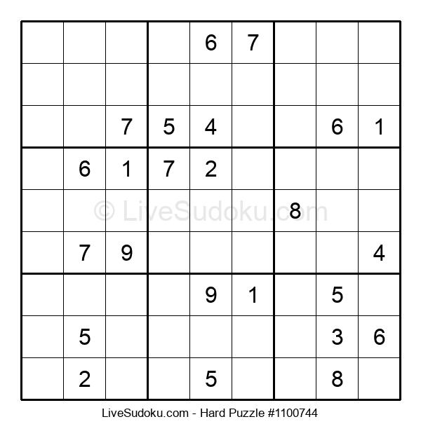 Hard Puzzle #1100744