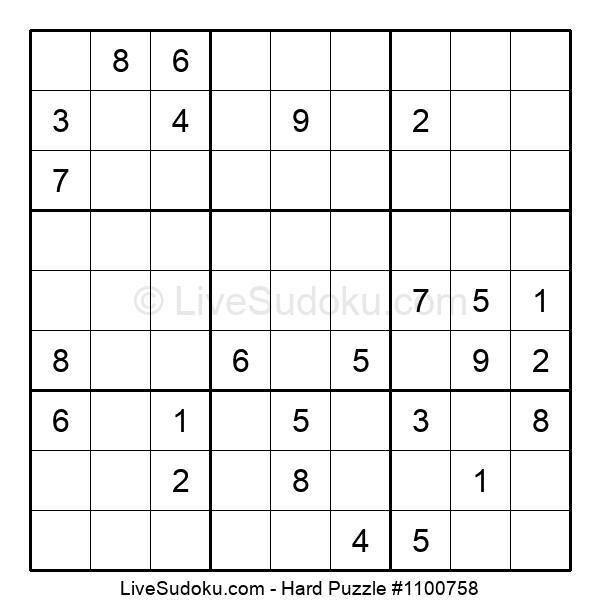 Hard Puzzle #1100758