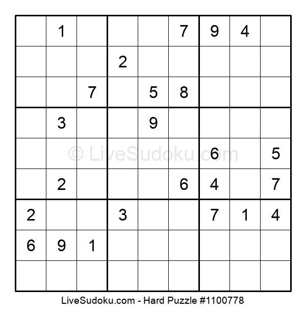 Hard Puzzle #1100778