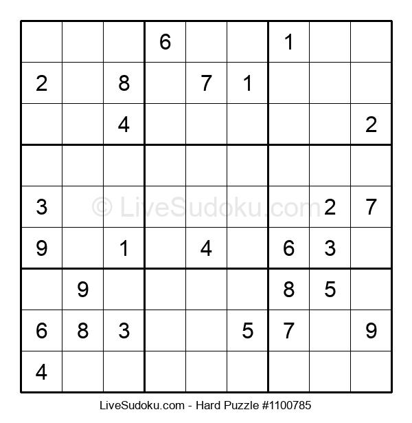 Hard Puzzle #1100785